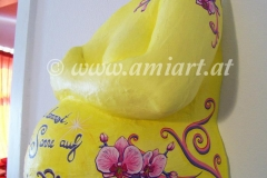 gelb rosa Orchideen