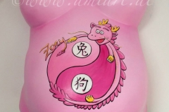 rosa Drache