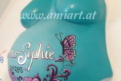 türkiser Schmetterling
