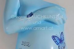 Schmetterling blau