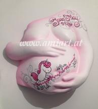 Baby Gipsbauch glatt und schön